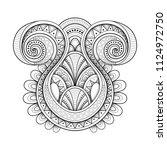 monochrome decorative swirly... | Shutterstock . vector #1124972750