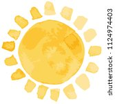 vector shiny weather yellow and ... | Shutterstock .eps vector #1124974403