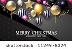 realistic glossy and... | Shutterstock .eps vector #1124978324
