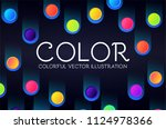 abstract geometric background... | Shutterstock .eps vector #1124978366