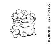 bag of potatoes  sketch vector... | Shutterstock .eps vector #1124978630