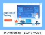 application testing concept... | Shutterstock .eps vector #1124979296