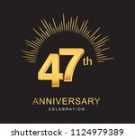 47th anniversary design with... | Shutterstock .eps vector #1124979389