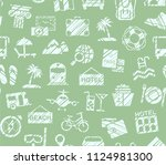 different types of holidays and ... | Shutterstock .eps vector #1124981300