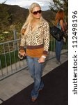 "Small photo of Paris Hilton at Samsung and Sprint ""The Upstage"" Country Club. Private Location, Beverly Hills, CA. 04-15-07"