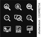 analytics icon vector... | Shutterstock .eps vector #1124982716