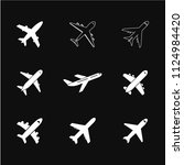 airplan icon vector  travel... | Shutterstock .eps vector #1124984420