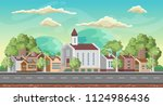 vector game background.... | Shutterstock .eps vector #1124986436