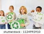 children as elementary school... | Shutterstock . vector #1124992910