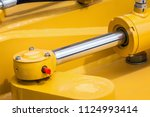 pipes and the hydraulic system... | Shutterstock . vector #1124993414