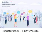 people and social media digital ... | Shutterstock .eps vector #1124998883