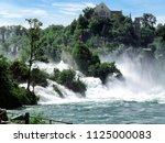 rhine falls  rheinfall ...   Shutterstock . vector #1125000083