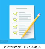 new checklist flat icon.... | Shutterstock .eps vector #1125003500