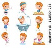 vector illustration set of... | Shutterstock .eps vector #1125004283
