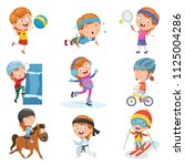 vector illustration of little... | Shutterstock .eps vector #1125004286