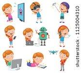 vector illustration of little...   Shutterstock .eps vector #1125004310