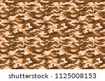 military camouflage texture ... | Shutterstock . vector #1125008153