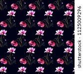 seamless wallpaper with...   Shutterstock . vector #1125009296