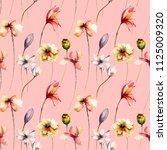 seamless pattern with original... | Shutterstock . vector #1125009320