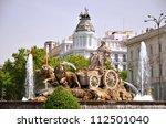 majestic cibeles fountain on... | Shutterstock . vector #112501040