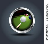 billiard game  steely rounded...