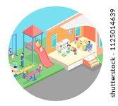 isometric flat 3d concept web... | Shutterstock . vector #1125014639