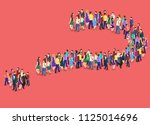 isometric flat 3d isolated... | Shutterstock . vector #1125014696