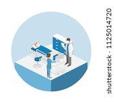 isometric flat interior of... | Shutterstock . vector #1125014720