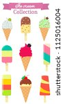 set of nine different sweet ice ... | Shutterstock . vector #1125016004