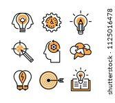 strategy  brainstorming ... | Shutterstock .eps vector #1125016478