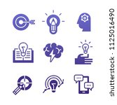 set of icons of education ... | Shutterstock .eps vector #1125016490