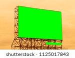 billboard on the side of street. | Shutterstock . vector #1125017843