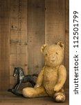 Vintage Teddy Bear With Rockin...