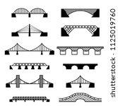 bridge icons set. vector... | Shutterstock .eps vector #1125019760