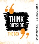 think outside the box... | Shutterstock .eps vector #1125022856