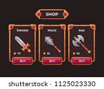 fantasy game weapon shop...