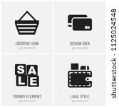 set of 4 editable trade icons....