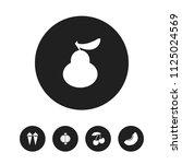 set of 5 editable dessert icons.... | Shutterstock .eps vector #1125024569