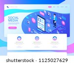 social media concept for... | Shutterstock .eps vector #1125027629