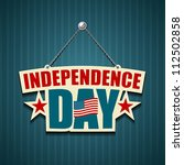 independence day american signs ... | Shutterstock .eps vector #112502858