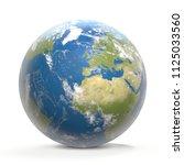 planet earth world wide 3d... | Shutterstock . vector #1125033560
