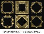 gatsby art deco border frames... | Shutterstock .eps vector #1125035969