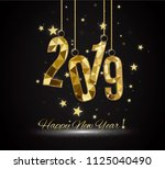 happy new year and merry... | Shutterstock .eps vector #1125040490