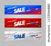 big sale banner template design ... | Shutterstock .eps vector #1125046880