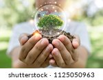 save world and innovation... | Shutterstock . vector #1125050963