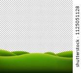 green landscape isolated... | Shutterstock .eps vector #1125051128