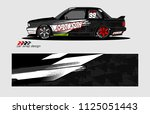 car decal design. abstract... | Shutterstock .eps vector #1125051443