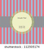 greeting card template frame...   Shutterstock .eps vector #112505174
