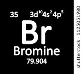 periodic table element bromine... | Shutterstock .eps vector #1125051980