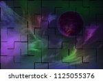 broken universe background      ...   Shutterstock . vector #1125055376